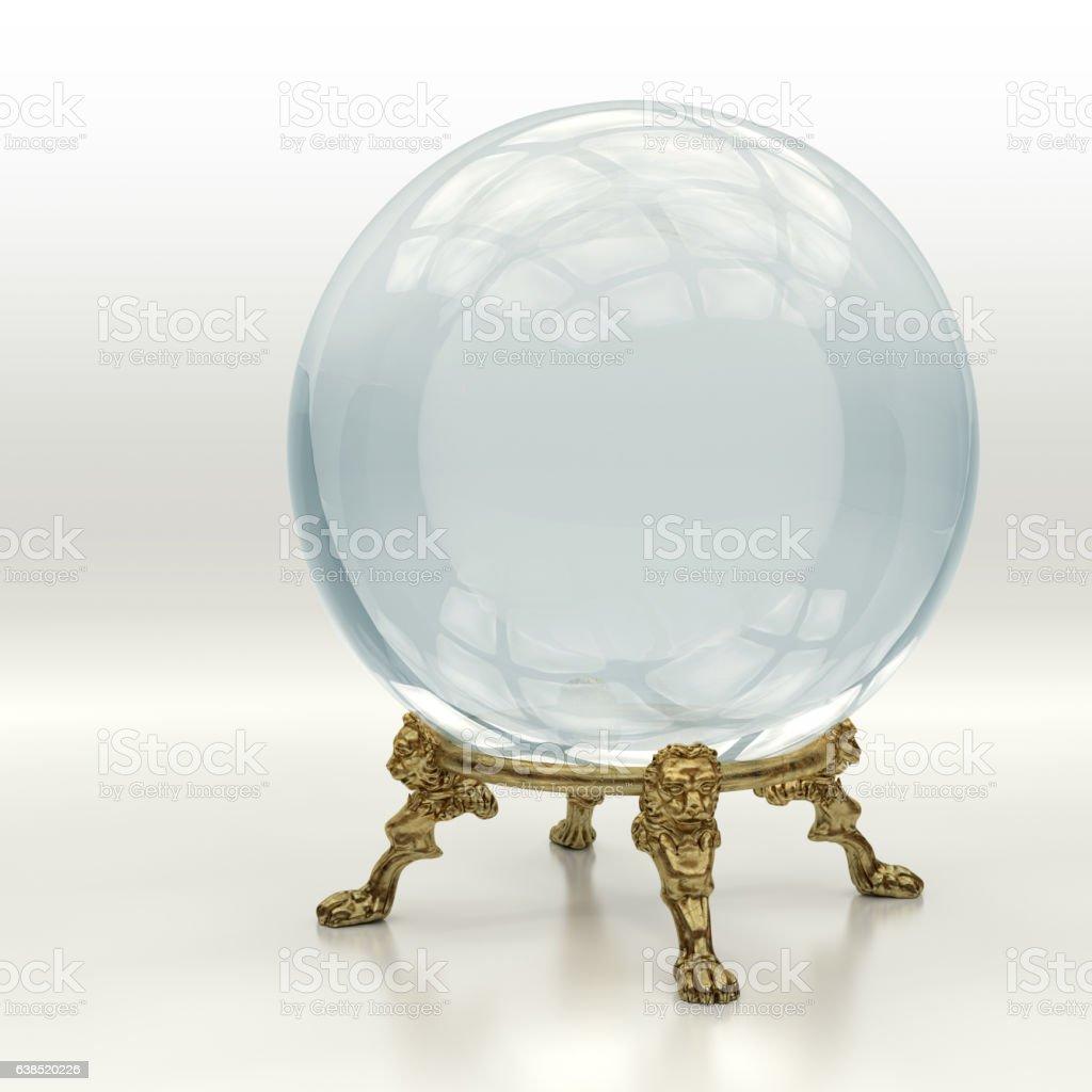 Crystal magic ball - foto de stock