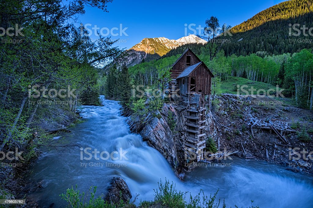 Crystal Mill Colorado stock photo