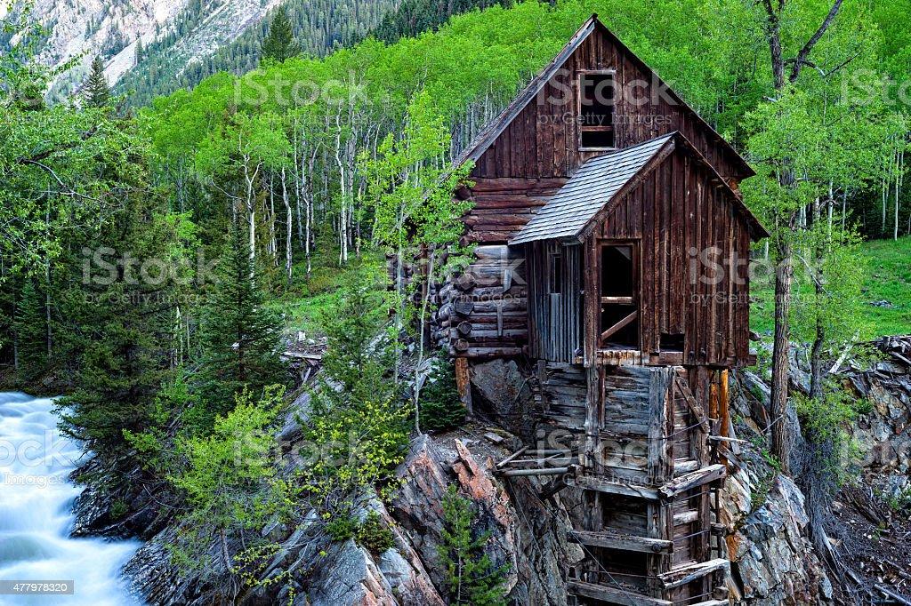 Crystal Mill Colorado stock photo