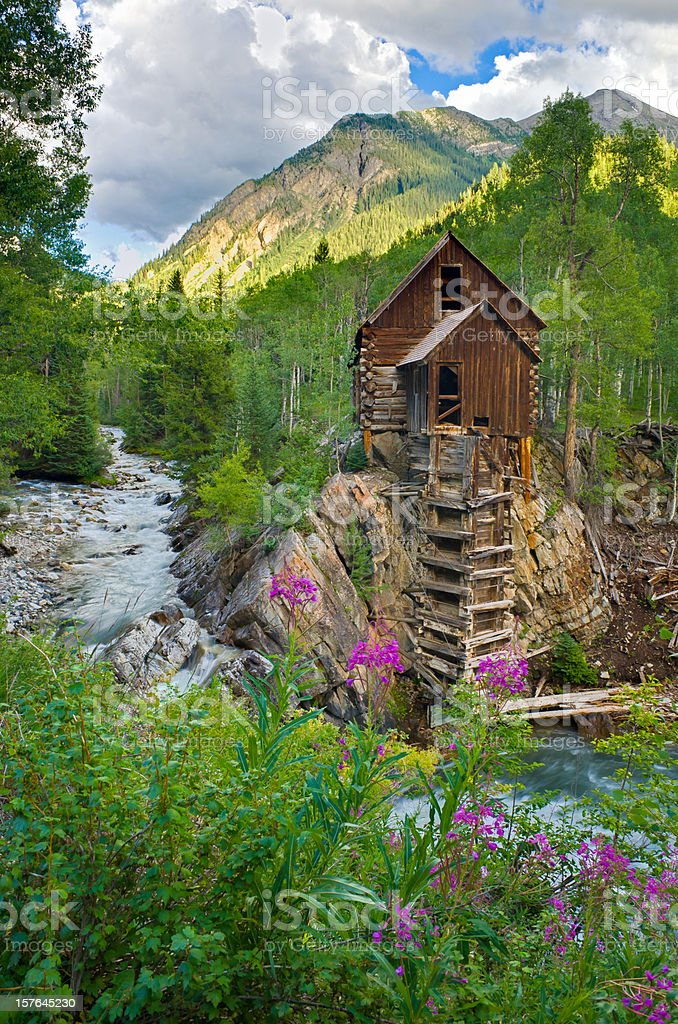 Crystal Mill Colorado USA royalty-free stock photo