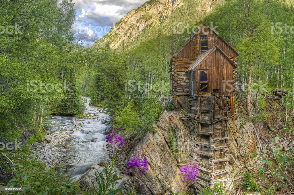 Crystal Mill Colorado USA stock photo
