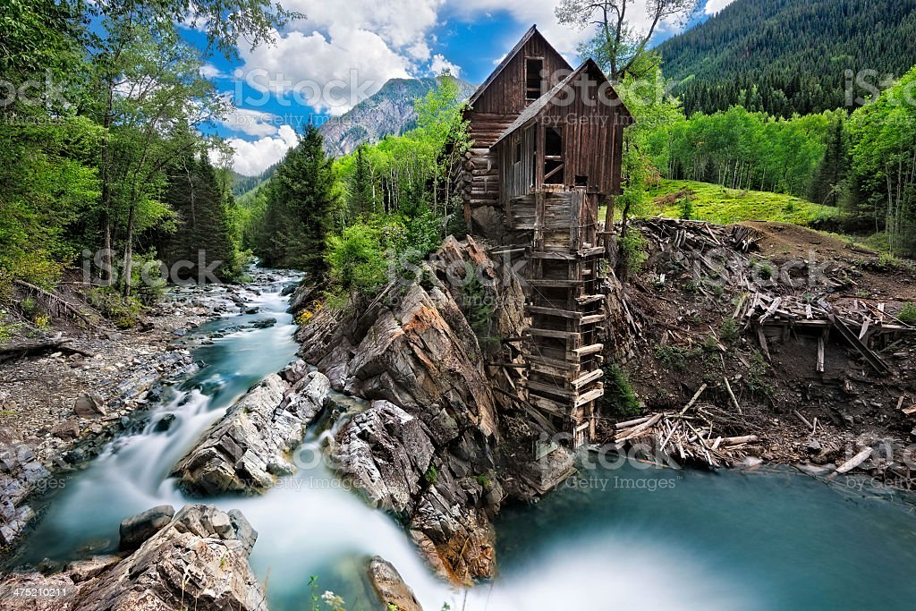 Crystal Mill stock photo