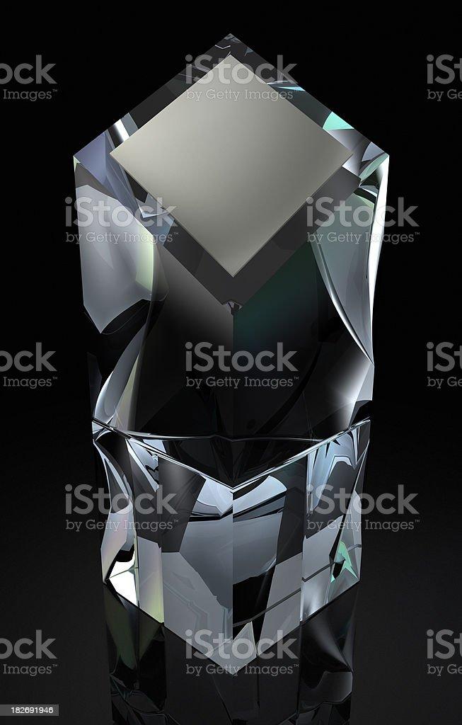Crystal Obelisk Trophy stock photo