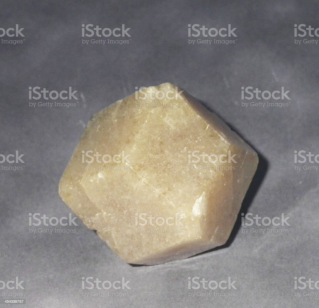 Crystal of garnet, var. grossular. royalty-free stock photo