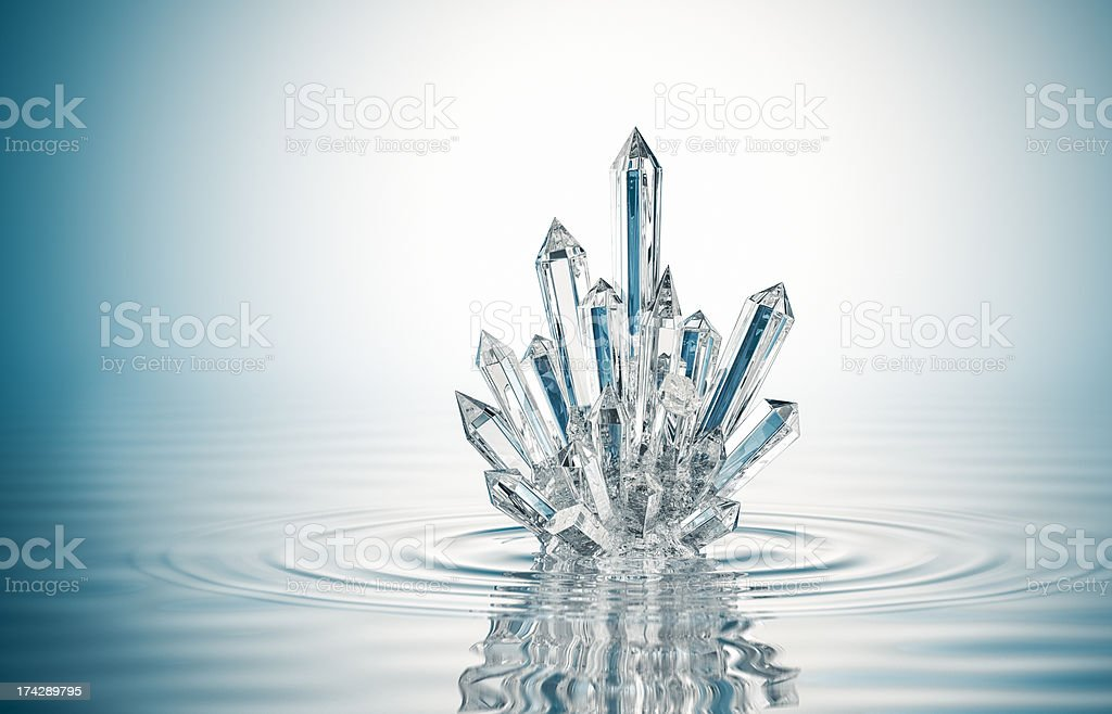 Crystal On The Water stock photo