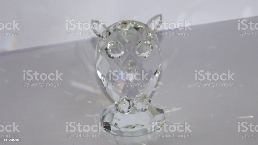 Crystal owl royalty-free stock photo