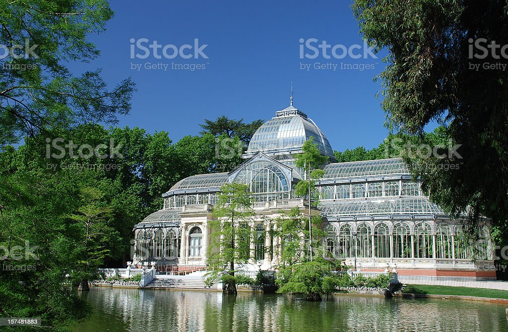 Crystal Palace in Retiro Park, Madrid stock photo