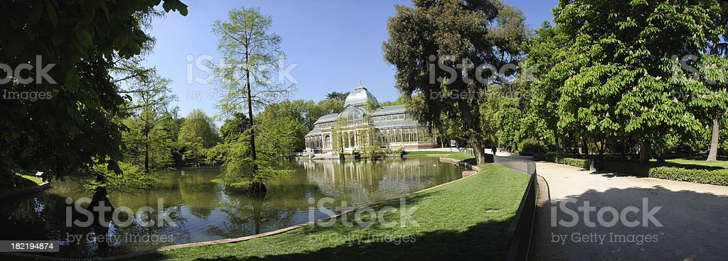 Crystal Palace in Retiro Park, Madrid stock photo