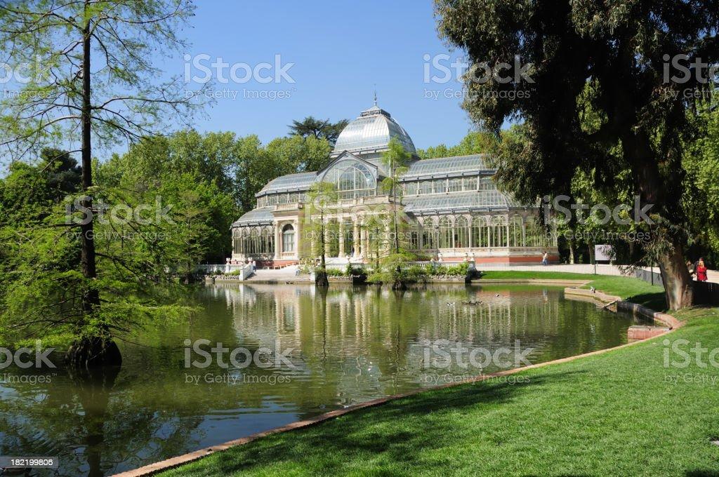Crystal Palace in Retiro Park, Madrid royalty-free stock photo