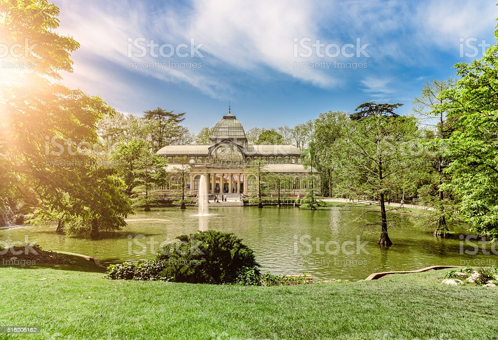 Crystal Palace Madrid, Retiro Park stock photo