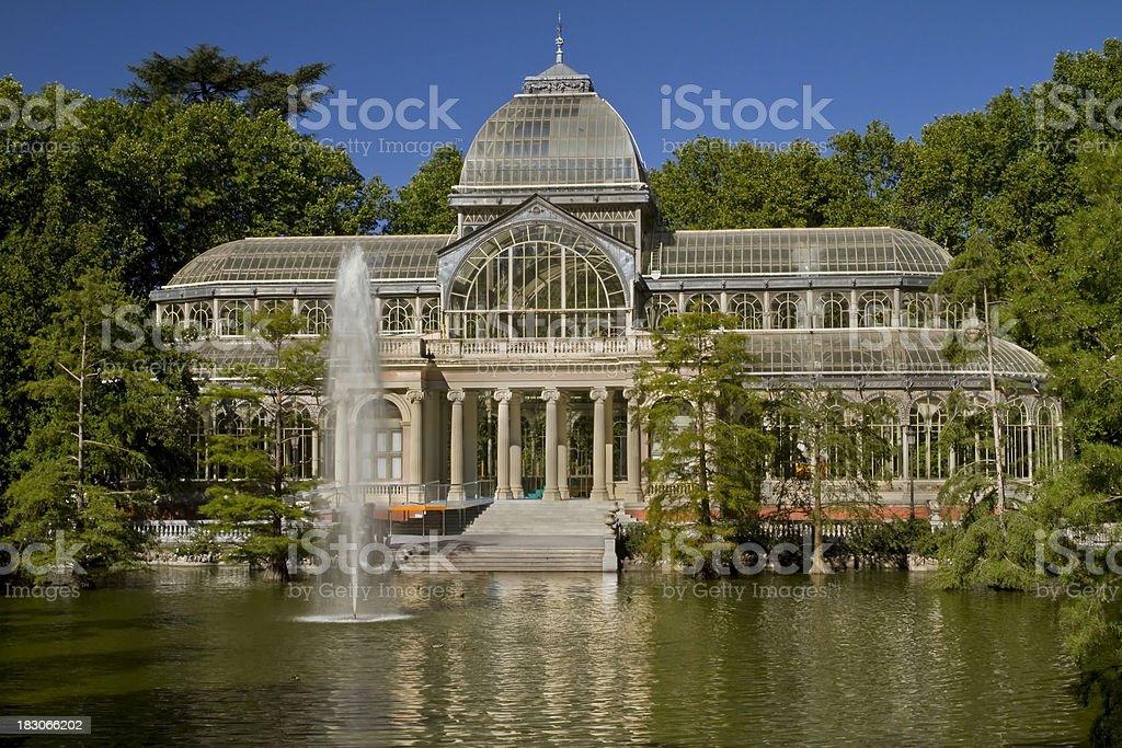 Crystal Palace Retiro Public Park Madrid stock photo