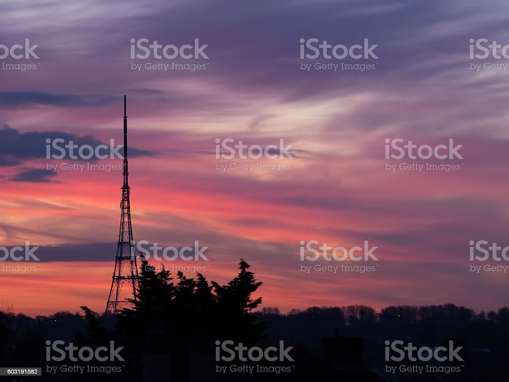 Crystal Palace transmitting station stock photo