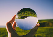 istock Crystal photography ball showing the beauty of St Bees Head 1069276874