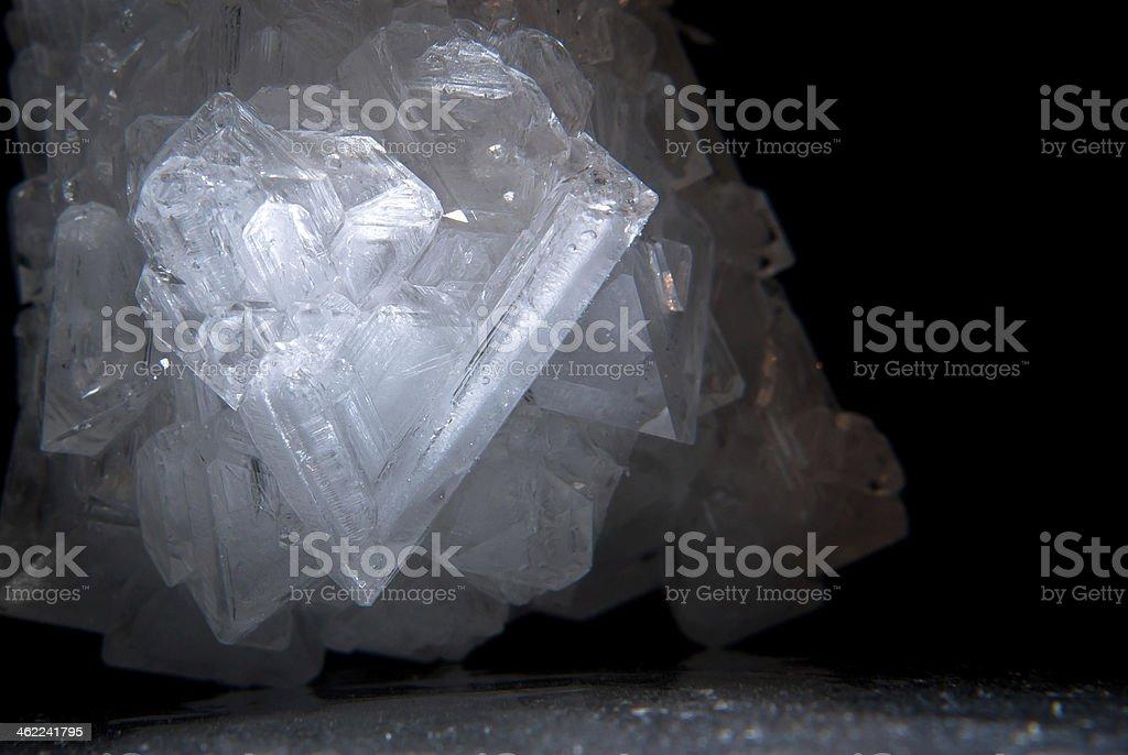 V Crystal stock photo