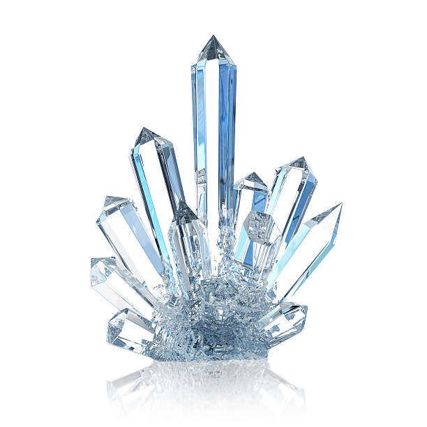 crystal - ice crystal stock pictures, royalty-free photos & images