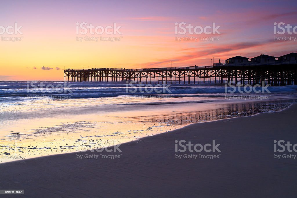 Crystal Pier at sunset royalty-free stock photo