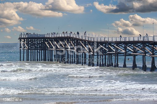 istock Crystal Pier in San Diego, California on a cloudy day. 1286221614