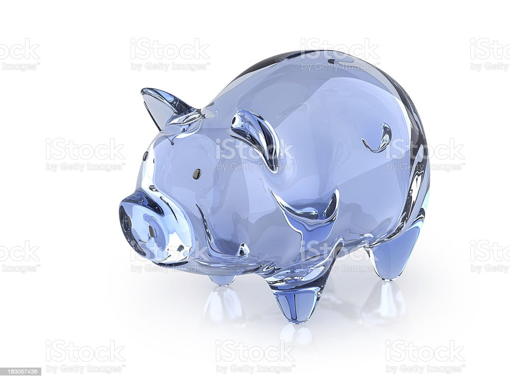 Crystal Piggy stock photo
