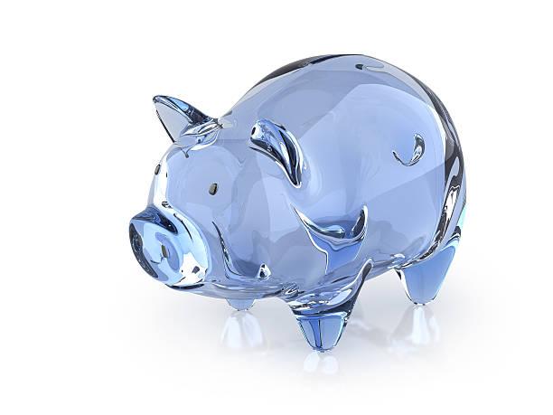 Crystal Piggy stock photo