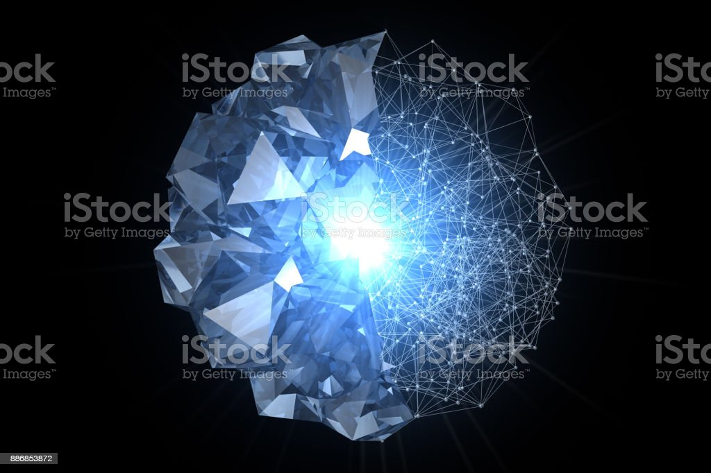 Crystal Power stock photo