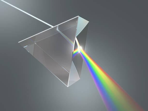crystal prism - lichtbreking stockfoto's en -beelden
