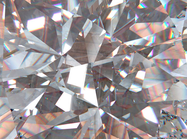 crystal refractions background - crystal stock pictures, royalty-free photos & images