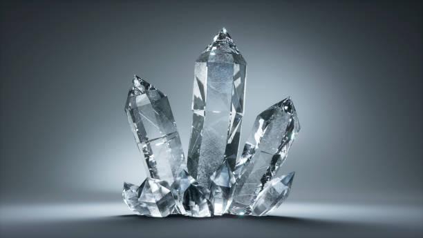 Crystal Rock - Quartz stock photo