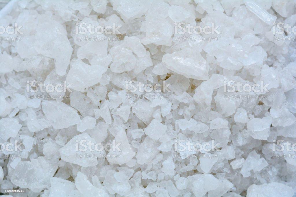 Crystal Sea Salt may use as background. Aromatic bath Sea Salt for...