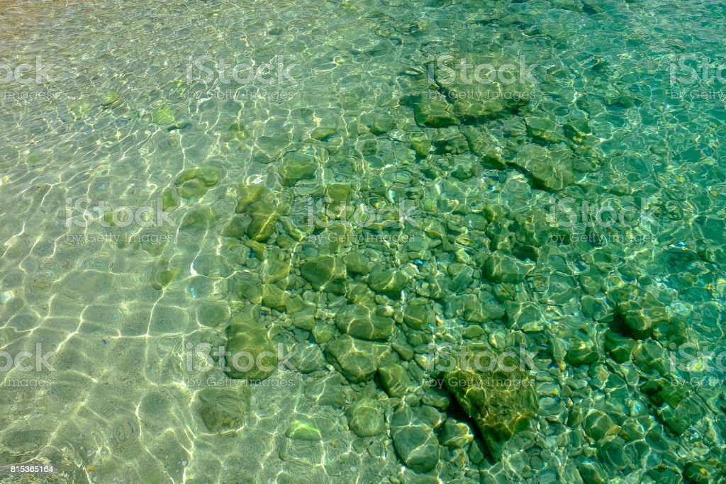 Crystal sea water. stock photo