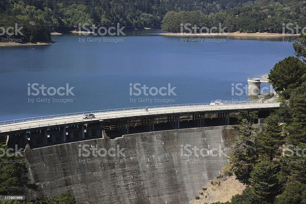 Crystal Springs Dam stock photo