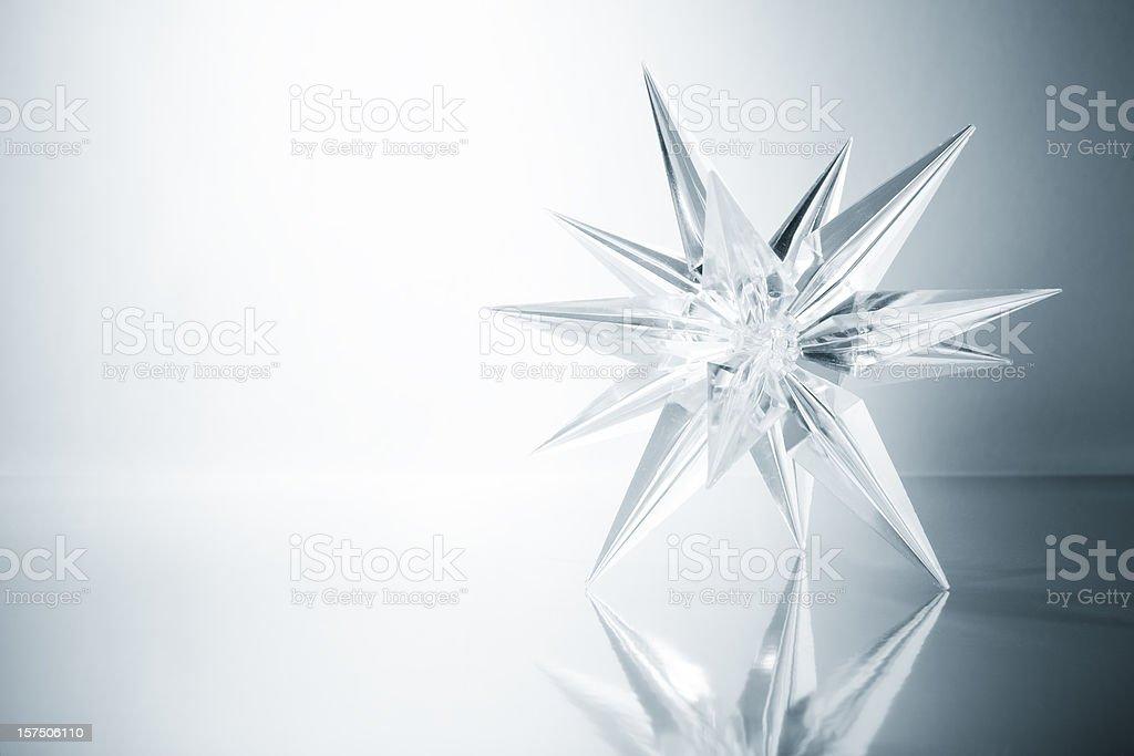 Cristais estrelas. De gelo de Arte na Neve de Natal Floco de Neve leve - foto de acervo