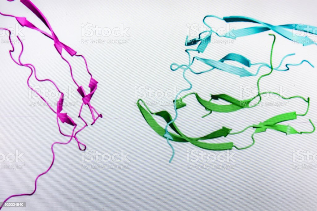 Crystal structure of protein. stock photo
