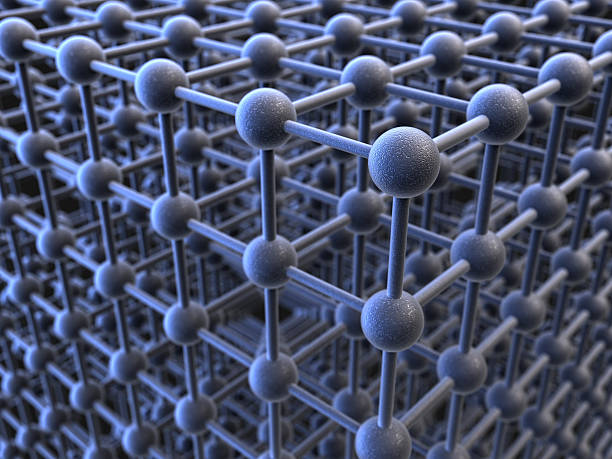 crystal structure stock photo