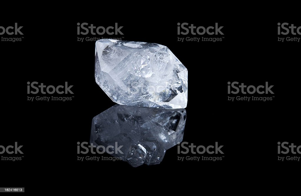 Crystal used in Healing Sessions royalty-free stock photo