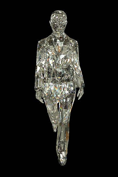 kristallisiertes frau - glasskulpturen stock-fotos und bilder