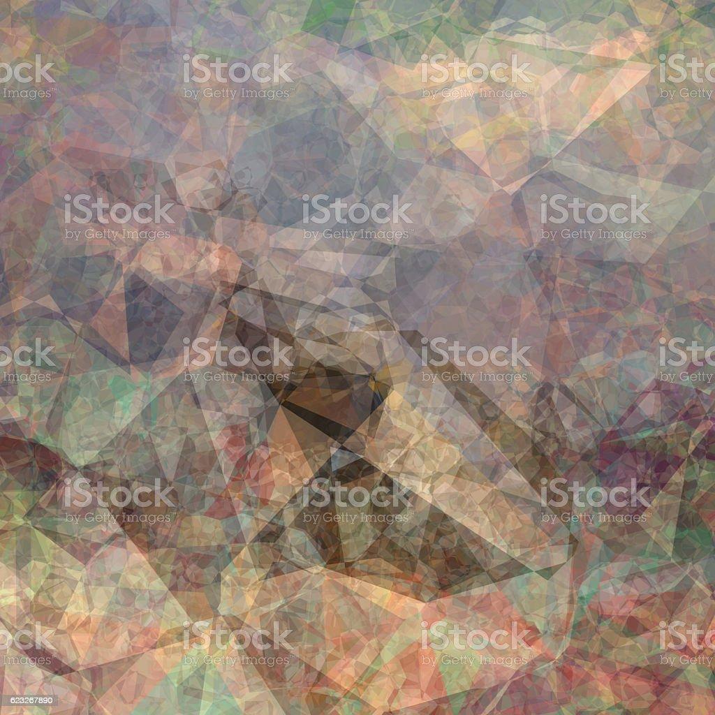 Crystallic triangular background stock photo