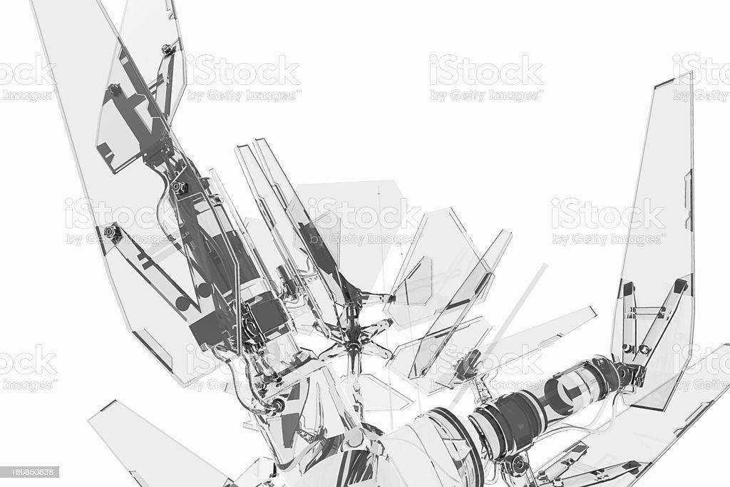 Crystalline technology stock photo