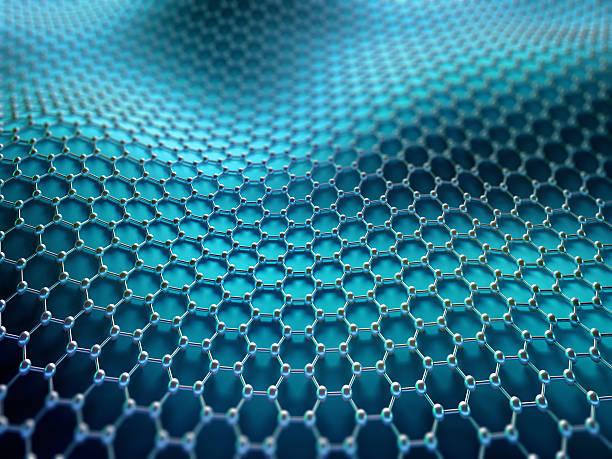 Crystallized Carbon Hexagonal System stock photo