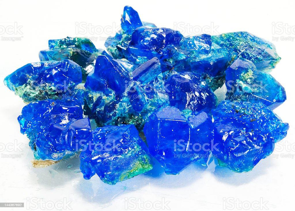 Crystals of blue vitriol royalty-free stock photo