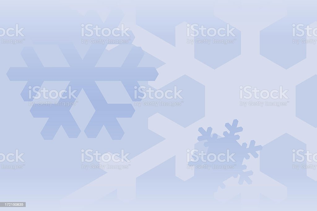 crystals (snow) royalty-free stock photo
