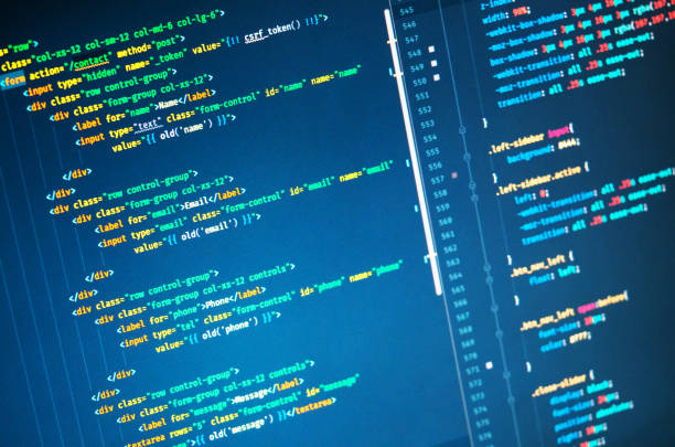 Css3 in code editor. Web developing on the php language Css3 in code editor, close up. Programming concept. Web developing on the php language php programming language stock pictures, royalty-free photos & images