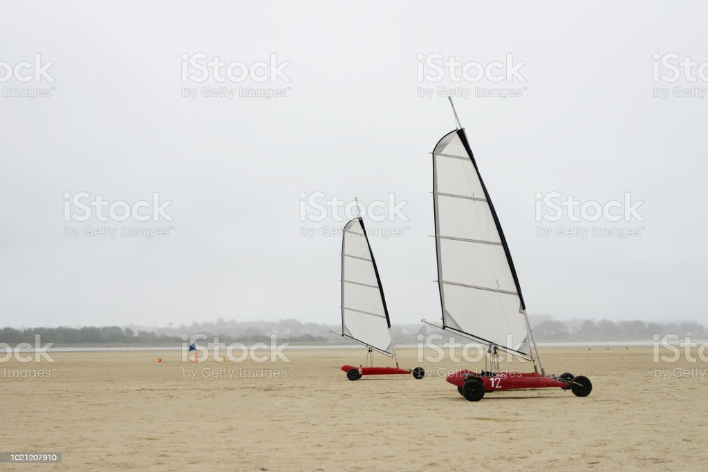Cote Bretonne Plage Char A Voile Stock Photo Download Image Now Istock