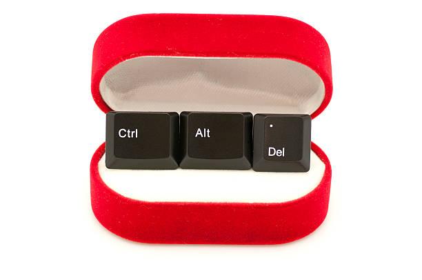 Ctrl, Alt, en el caso Del llaves de anillo - foto de stock