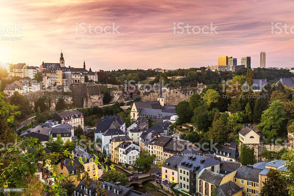 Cty of Luxembourg - ヨーロッパのロイヤリティフリーストックフォト