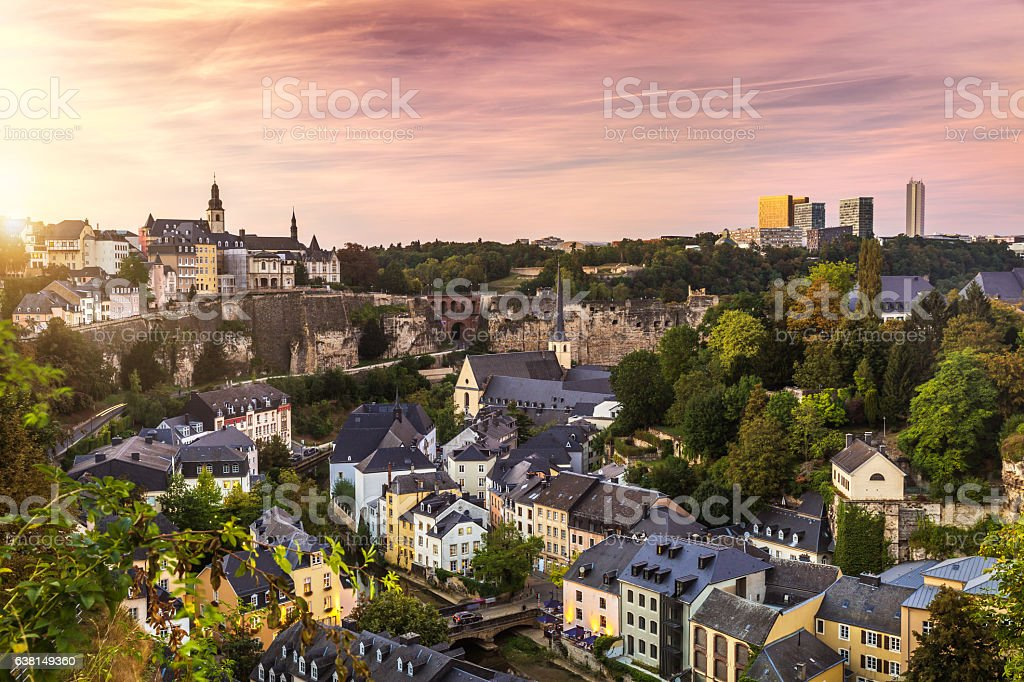 Cty of Luxembourg stock photo