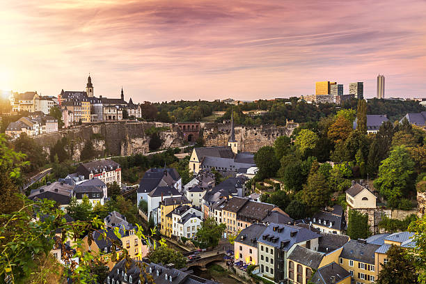 Cty of Luxembourg The nice city of Luxembourg in Europe benelux stock pictures, royalty-free photos & images