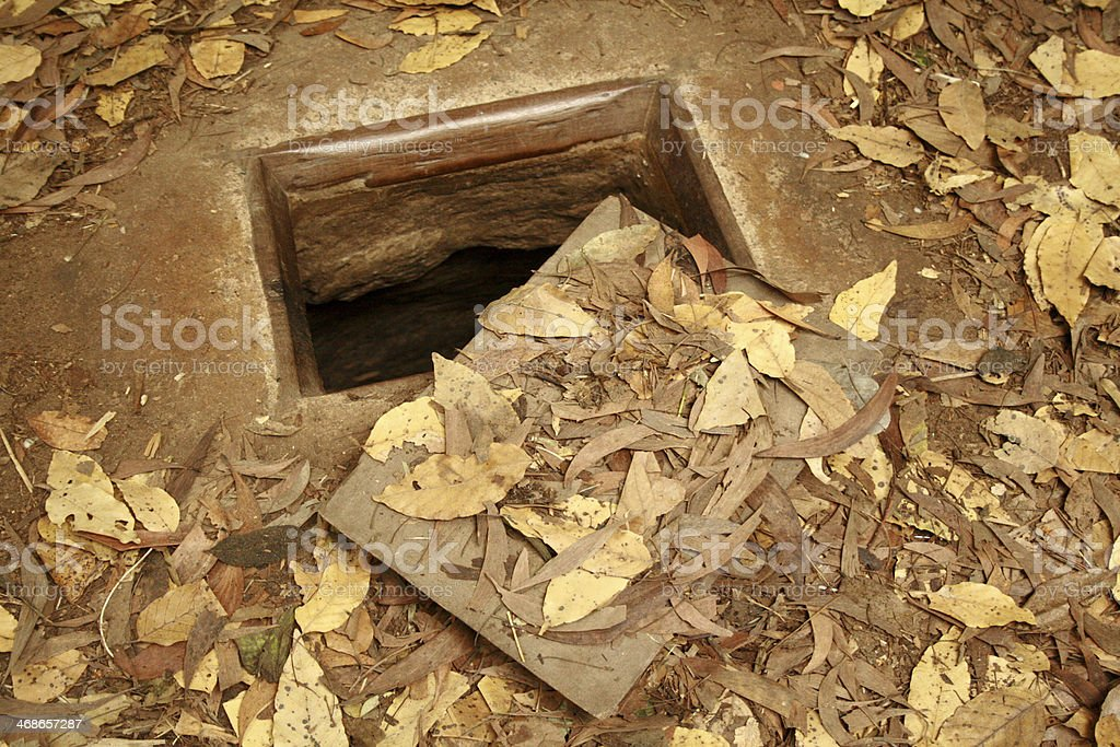 Cu Chi tunnel exit, Ho Chi Minh City, Vietnam royalty-free stock photo