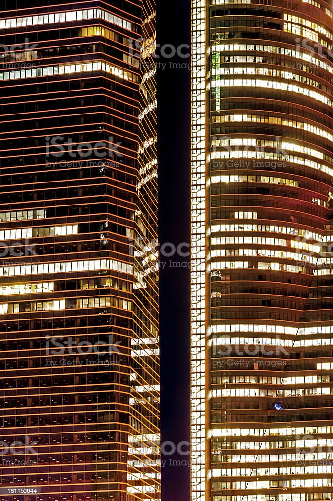Cuatro Torres , business district of Madrid royalty-free stock photo
