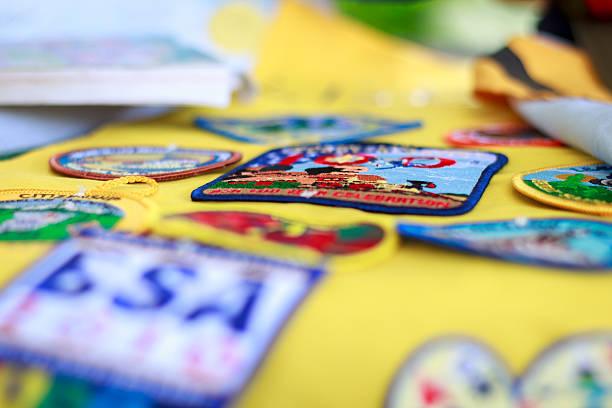 lobato scout parches - boy scout fotografías e imágenes de stock