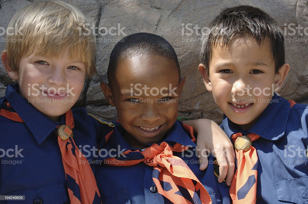 Cub Scouts stock photo